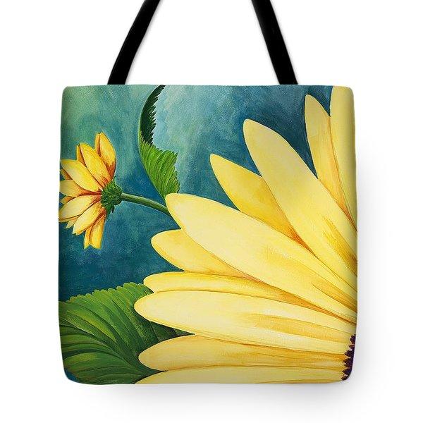 Spring Daisy Tote Bag by Carol Sabo