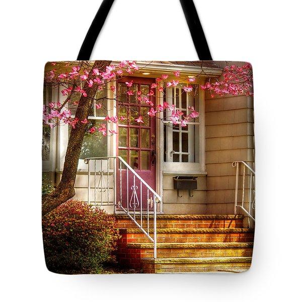 Spring - Door - Dogwood  Tote Bag by Mike Savad
