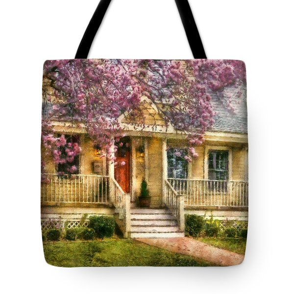 Spring - Door - Vacation House Tote Bag by Mike Savad