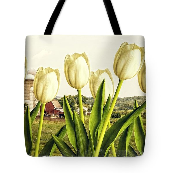 Spring Down On The Farm Tote Bag by Edward Fielding