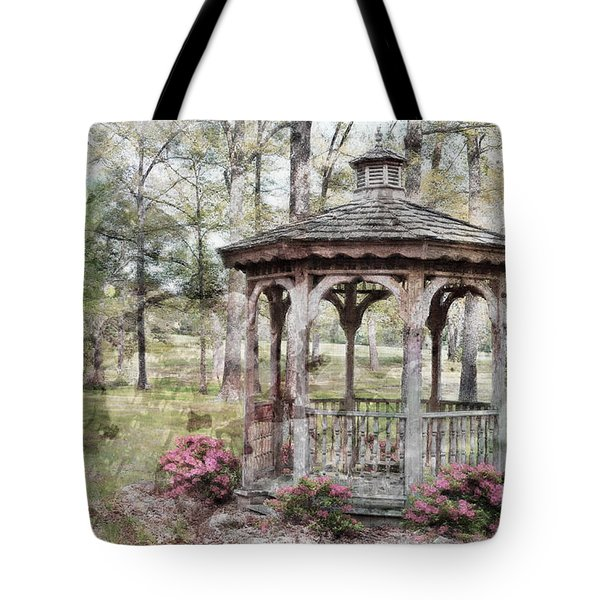 Spring Gazebo painteffect Tote Bag by Debbie Portwood