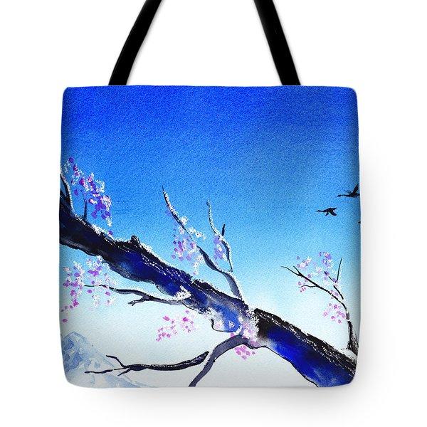 Spring In The Mountains Tote Bag by Irina Sztukowski