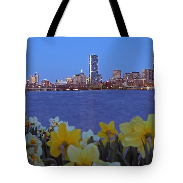 Spring into Boston Tote Bag by Juergen Roth