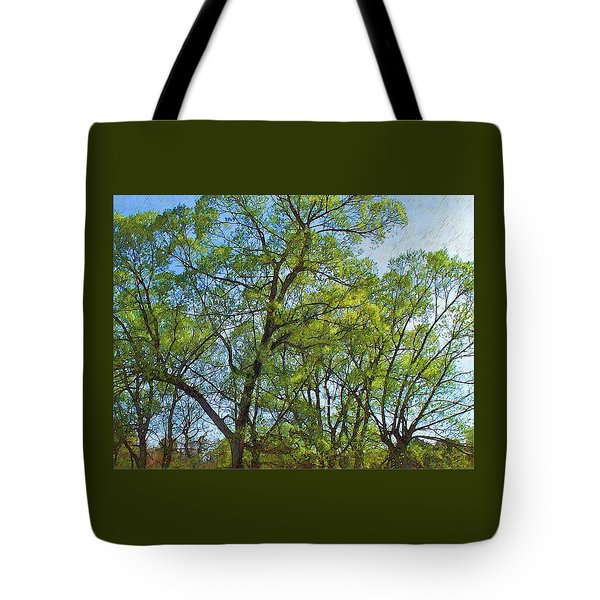 Spring Leaves In The Willows Tote Bag by Joy Nichols