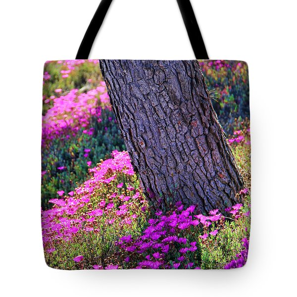Spring Meadow Tote Bag by Mariola Bitner