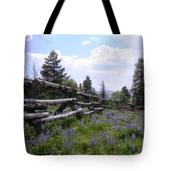 Spring Mountain Lupines 2 Tote Bag by Crystal Miller