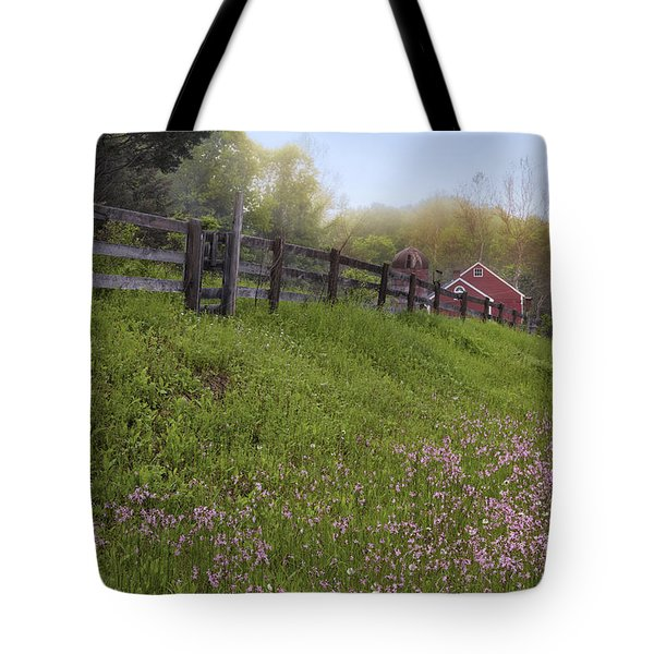 Spring on the farm Tote Bag by Bill  Wakeley