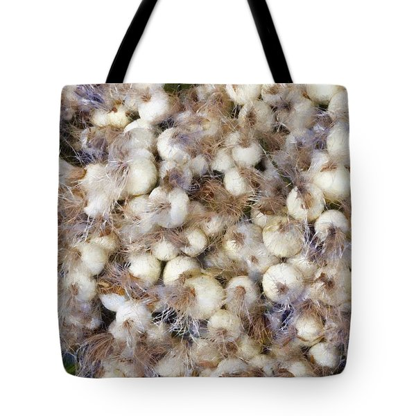 Spring Onions At The Market Tote Bag by Michelle Calkins