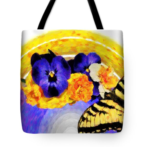Spring Rainbow Tote Bag by Susan Leggett