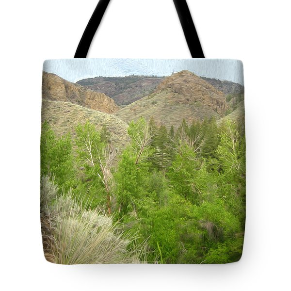 Spring Returns To The Valley Tote Bag by Kathy Bassett