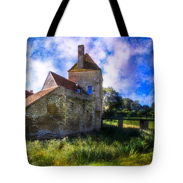 Spring Romance In The French Countryside Tote Bag by Debra and Dave Vanderlaan