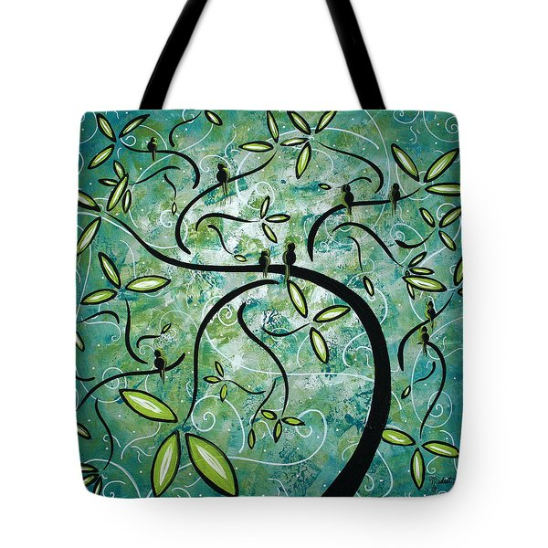 Spring Shine By Madart Tote Bag by Megan Duncanson