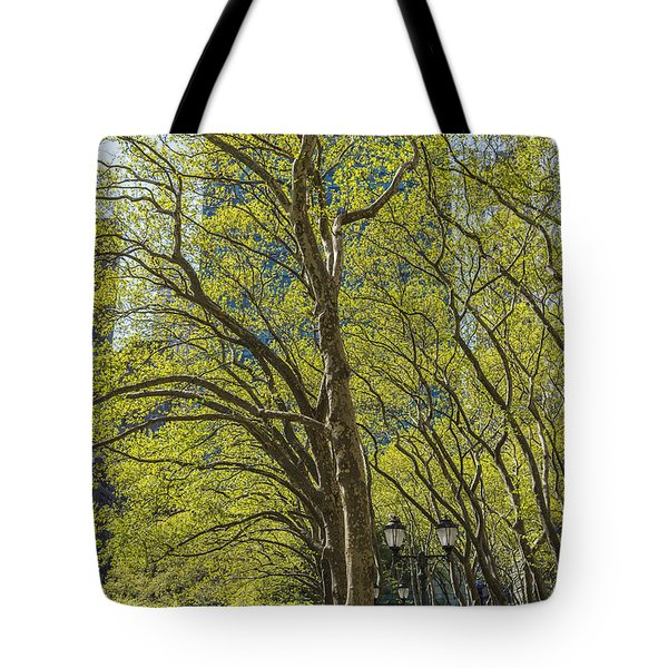 Spring Time In Bryant Park New York Tote Bag by Angela A Stanton