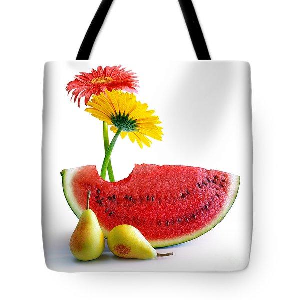 Spring Watermelon Tote Bag by Carlos Caetano