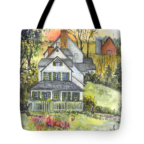 Springtime Down On The Farm Tote Bag by Carol Wisniewski