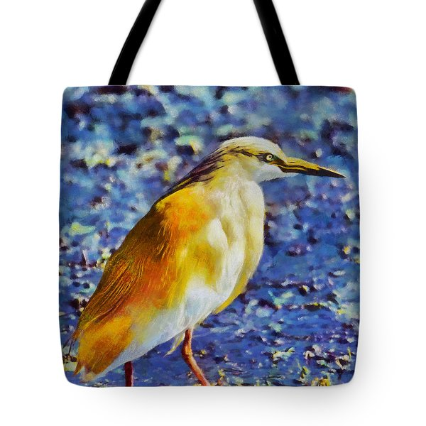 Squacco Heron Tote Bag by George Rossidis