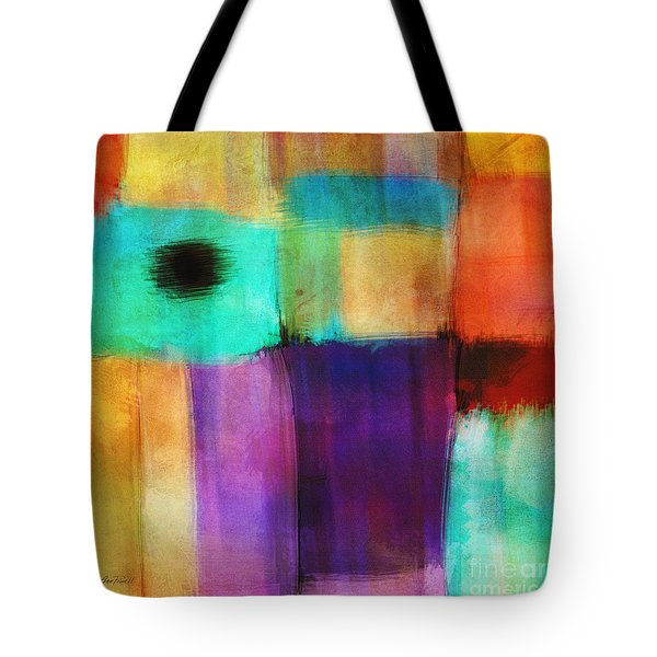 Square Abstract Study Three Tote Bag by Ann Powell