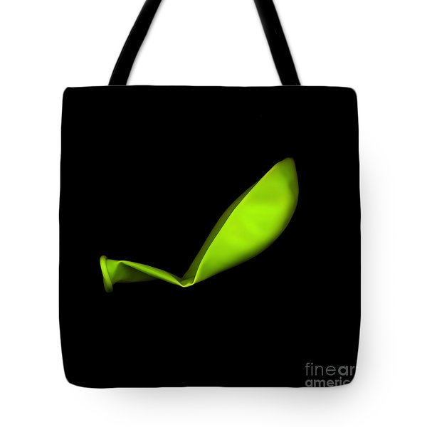 Square Lime Green Balloon Tote Bag by Julian Cook