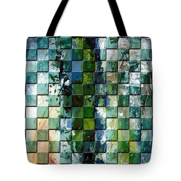 Square mania - Abstract 01 Tote Bag by Emerico Imre Toth