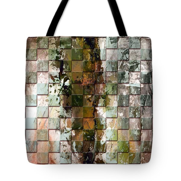 Square mania - Abstract 09 Tote Bag by Emerico Imre Toth