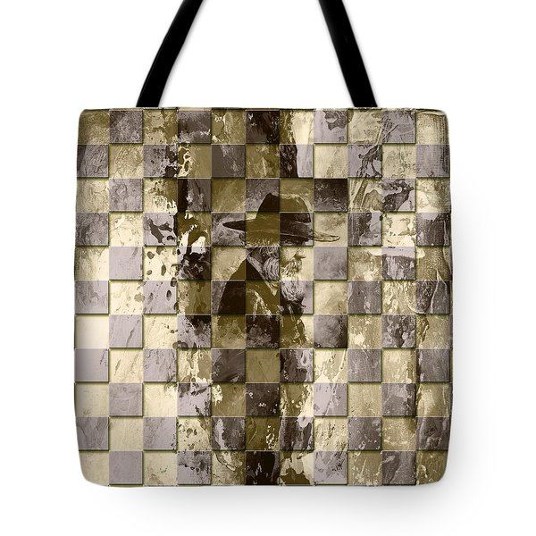 Square Mania - Old Man 02 Tote Bag by Emerico Imre Toth