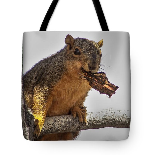 Squirrel Lunch Time Tote Bag by Robert Bales