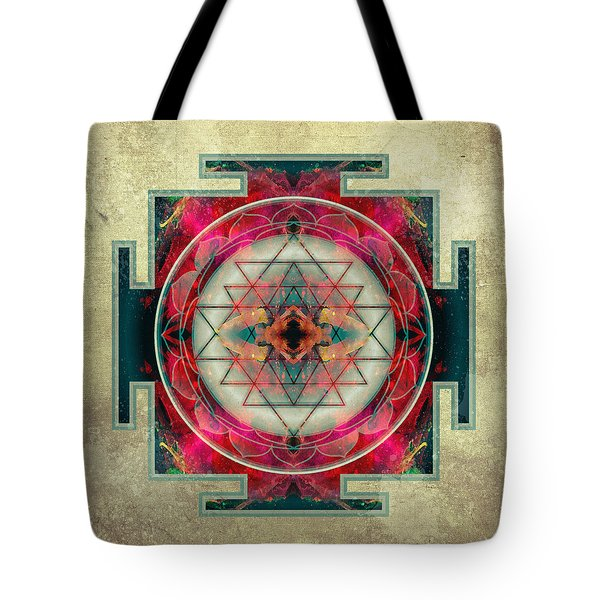 Sri Yantra Tote Bag by Filippo B