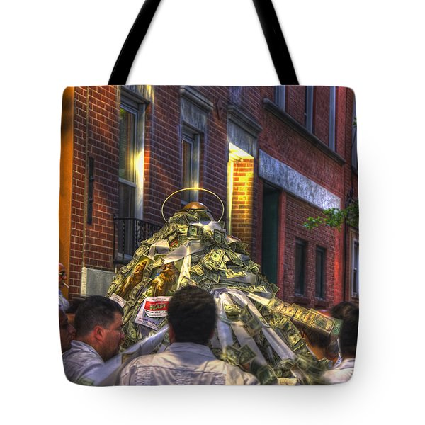 St Anthony's Feast - Boston North End Tote Bag by Joann Vitali