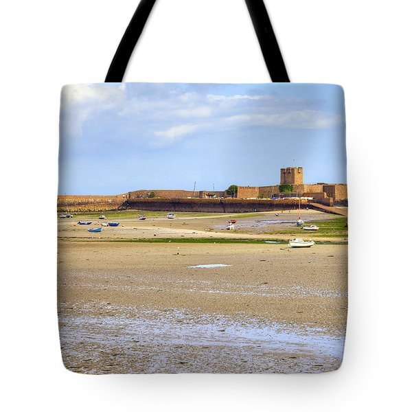 St Aubin's Fort - Jersey Tote Bag by Joana Kruse