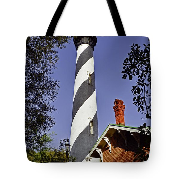 St Augustine Lighthouse - Old Florida Charm Tote Bag by Christine Till