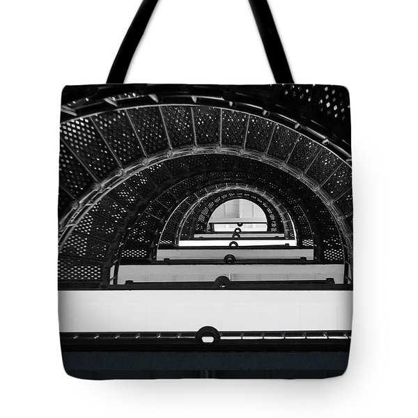 St Augustine Lighthouse Stairs Tote Bag by Christine Till