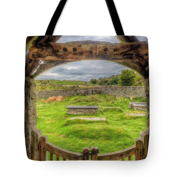 St Celynnin Graveyard Tote Bag by Adrian Evans
