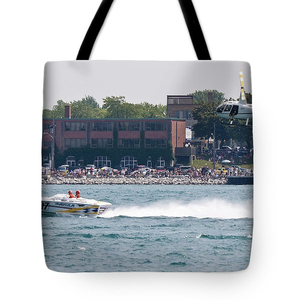 St. Clair Michigan USA Power Boat Races-4 Tote Bag by Paul Cannon