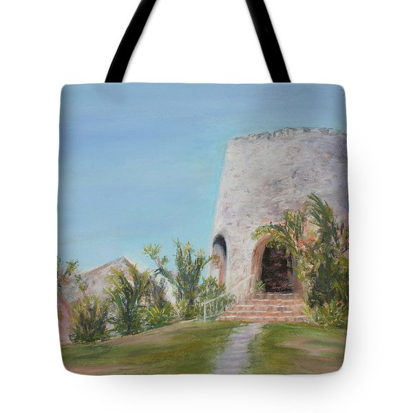 St. Croix Sugar Mill Tote Bag by Mary Benke