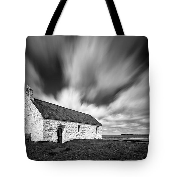 St Cwyfan's Church Tote Bag by Dave Bowman