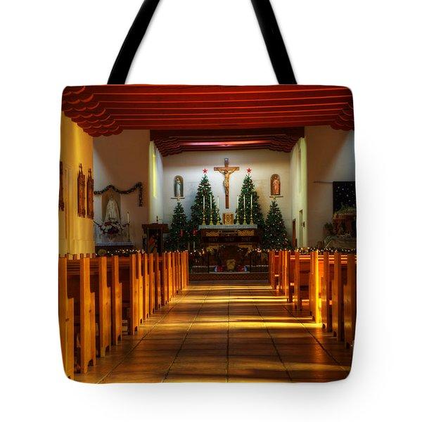 St Francis de Paula Mission Tularosa Tote Bag by Bob Christopher
