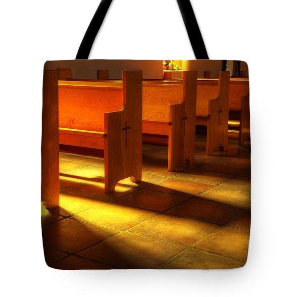 St Francis de Paula Shadow and Light Tote Bag by Bob Christopher