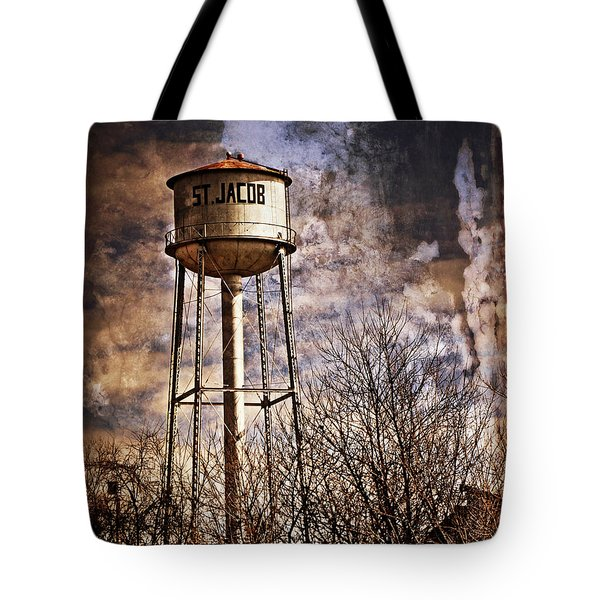 St. Jacob Water Tower 2 Tote Bag by Marty Koch