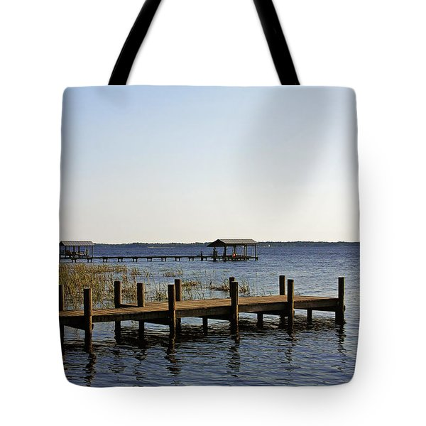 St Johns River Florida - Walk this way Tote Bag by Christine Till