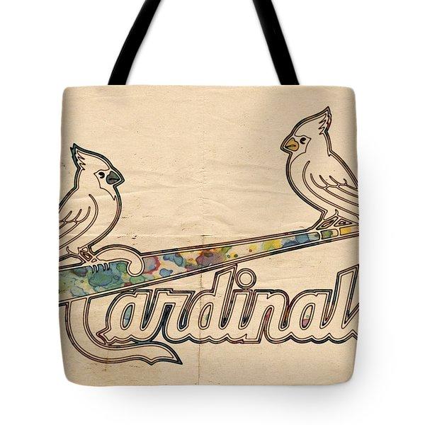 St Louis Cardinals Poster Art Tote Bag by Florian Rodarte