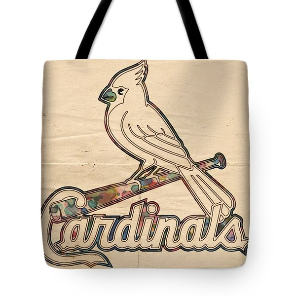 St Louis Cardinals Poster Vintage Tote Bag by Florian Rodarte