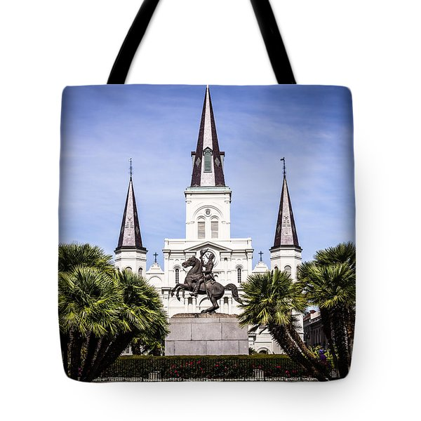 St. Louis Cathedral In New Orleans  Tote Bag by Paul Velgos