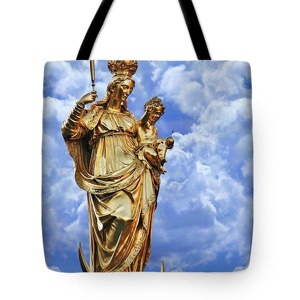 St Mary's Column Marienplatz Munich Tote Bag by Christine Till