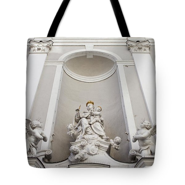 St Michael Church Sculptures in Budapest Tote Bag by Artur Bogacki