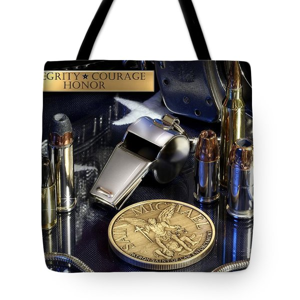 St Michael Law Enforcement Tote Bag by Gary Yost