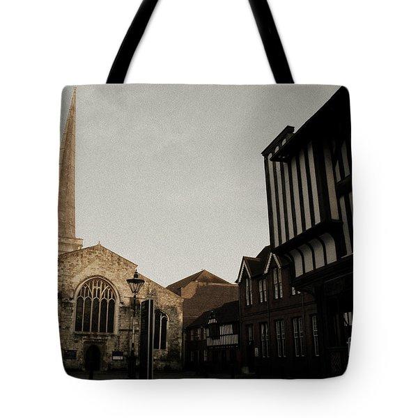 St Michaels Square Southampton Tote Bag by Terri  Waters