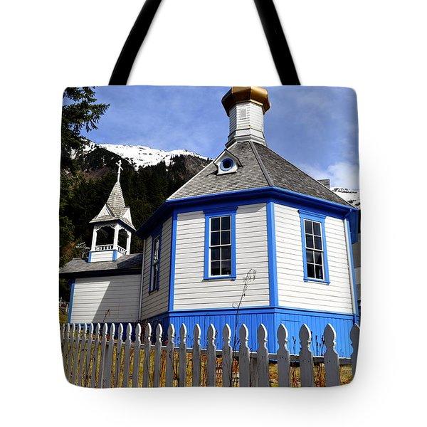 St. Nicholas Russian Orthodox Church Tote Bag by Cathy Mahnke