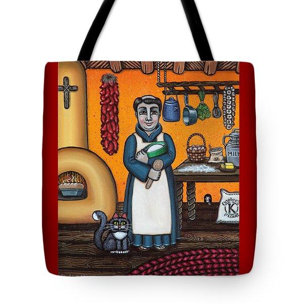 St. Pascual Making Bread Tote Bag by Victoria De Almeida