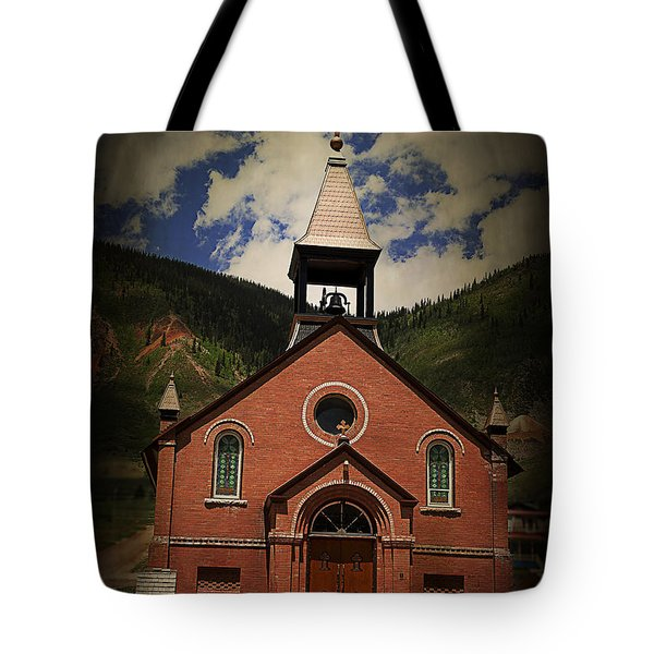 St. Patrick Silverton Colorado Tote Bag by Janice Rae Pariza