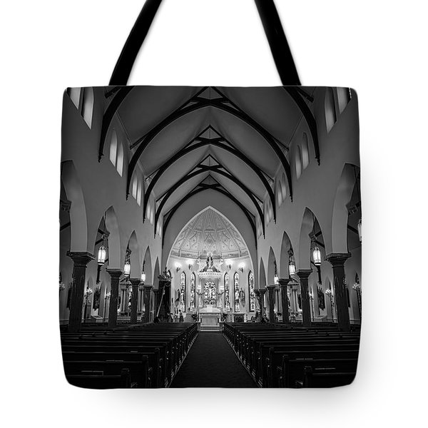 St Patricks Cathedral Fort Worth Tote Bag by Joan Carroll